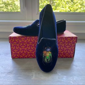 Authentic Tory Burch Velvet Smoking Slippers